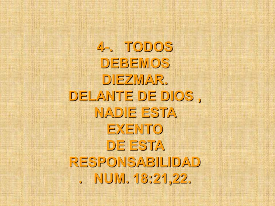 4-. TODOS DEBEMOS DIEZMAR