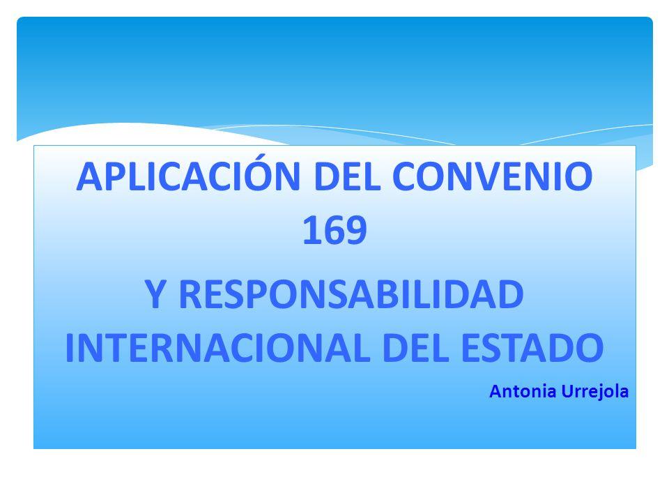 APLICACIÓN DEL CONVENIO 169 Y RESPONSABILIDAD INTERNACIONAL DEL ESTADO