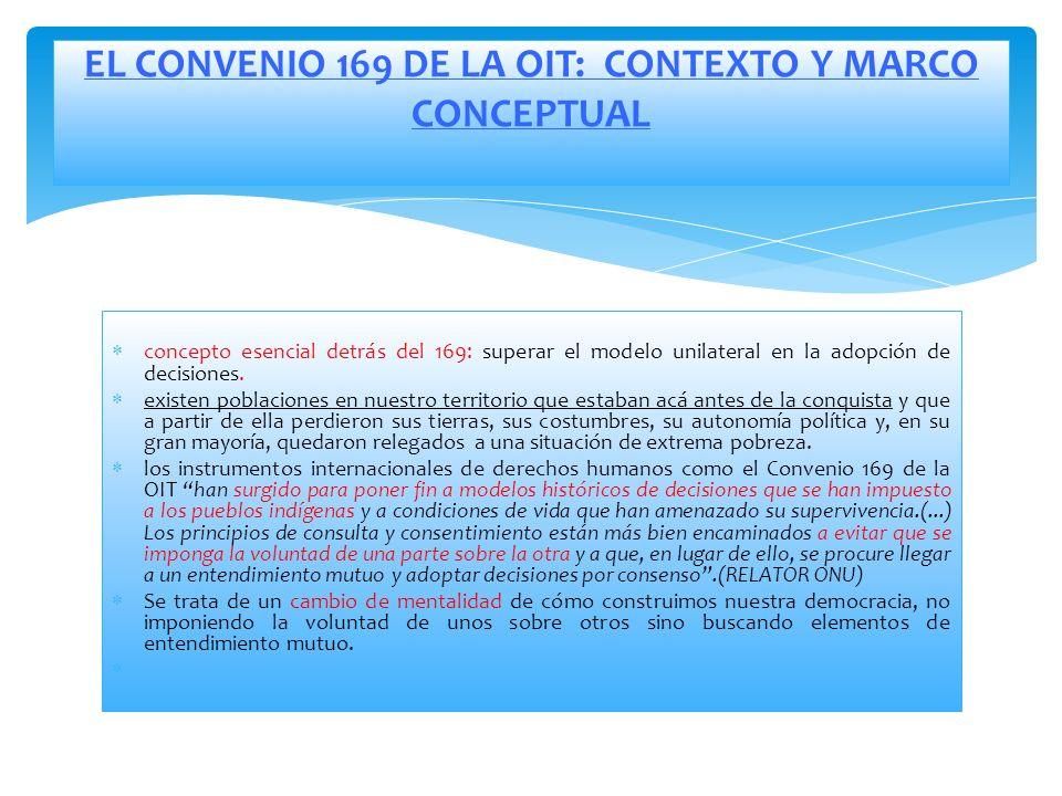 EL CONVENIO 169 DE LA OIT: CONTEXTO Y MARCO CONCEPTUAL