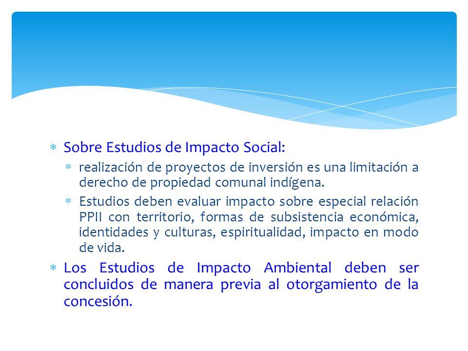 Sobre Estudios de Impacto Social:
