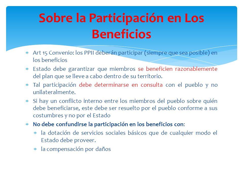 Sobre la Participación en Los Beneficios