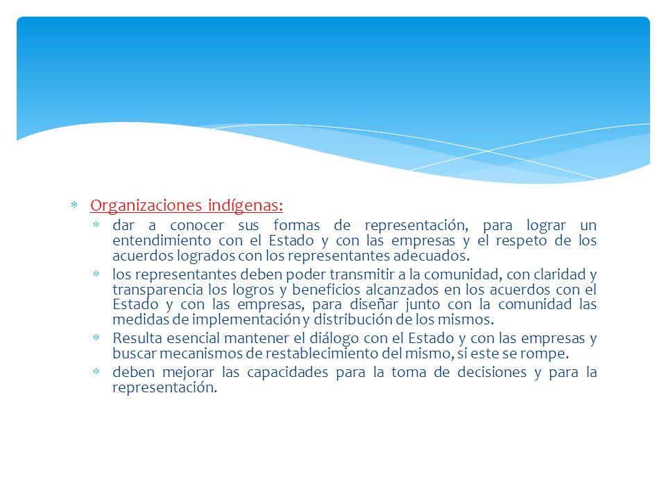 Organizaciones indígenas: