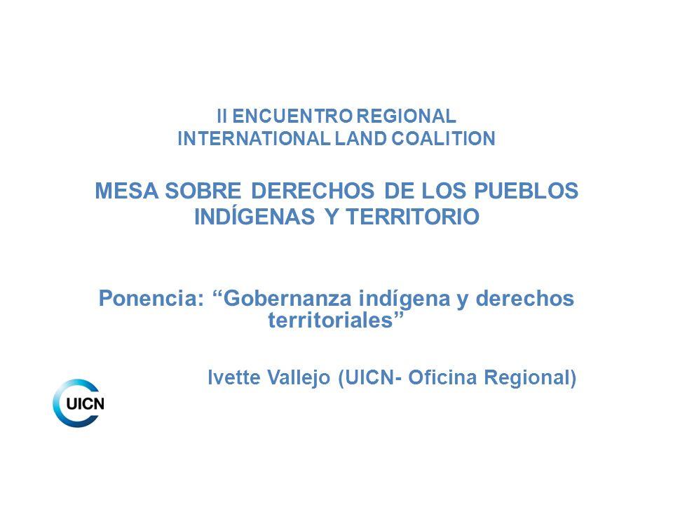 Ponencia: Gobernanza indígena y derechos territoriales