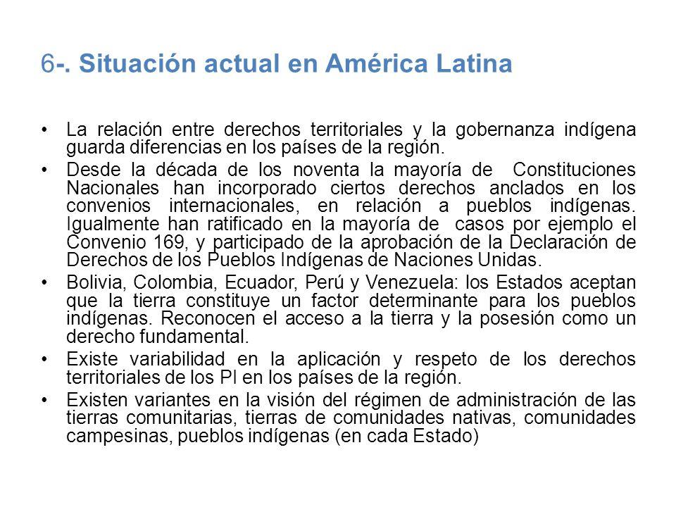 6-. Situación actual en América Latina