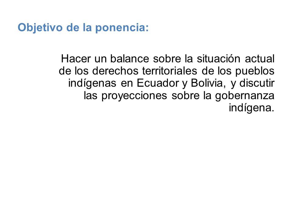 Objetivo de la ponencia: