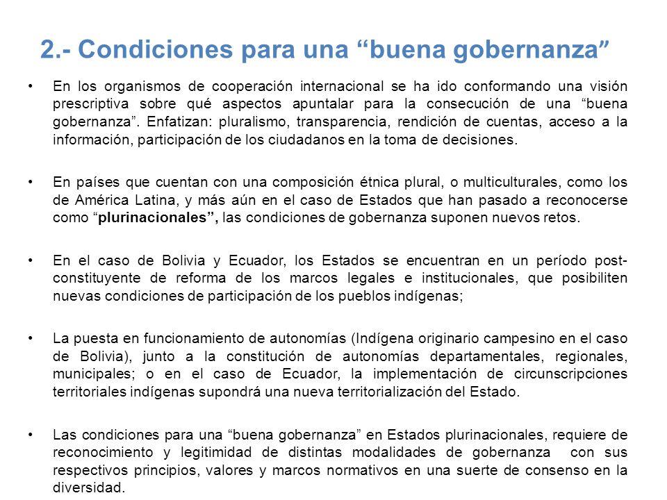 2.- Condiciones para una buena gobernanza