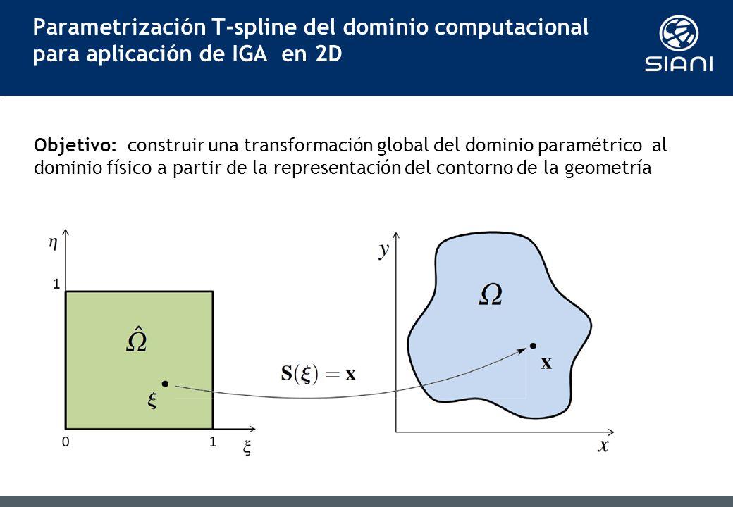Parametrización T-spline del dominio computacional para aplicación de IGA en 2D