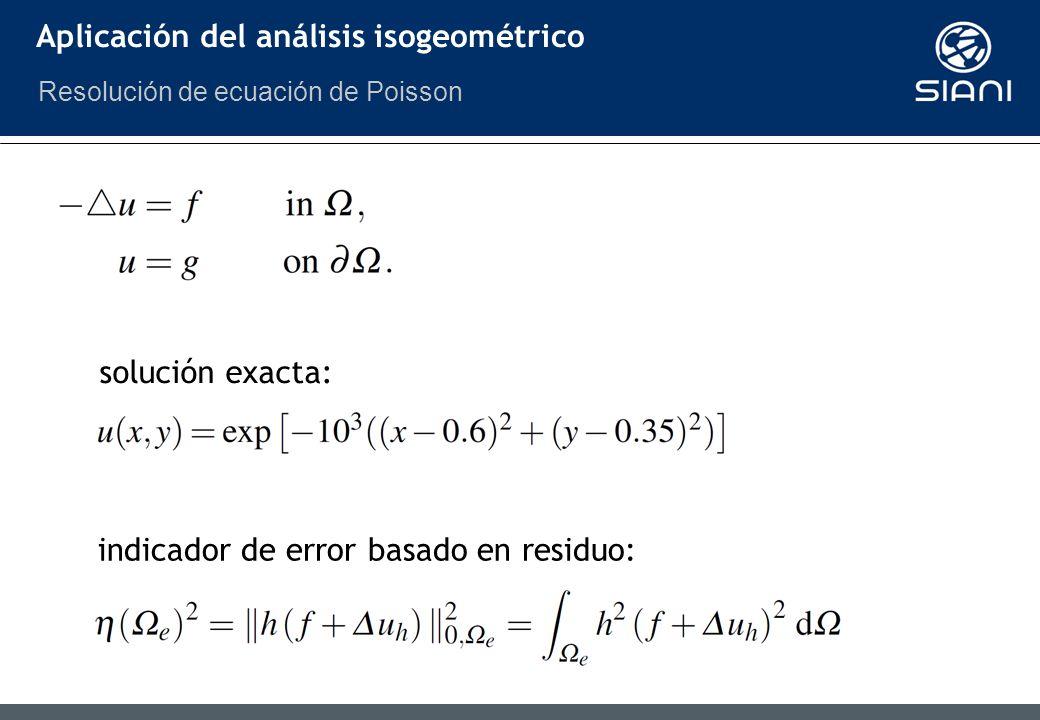 Aplicación del análisis isogeométrico