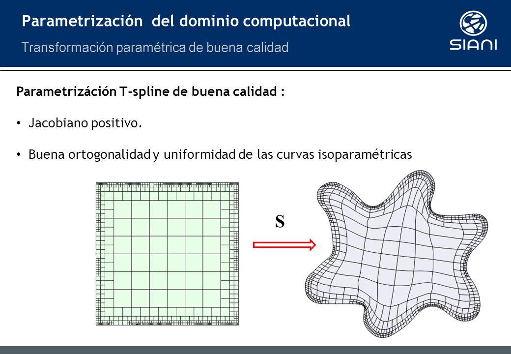 S Parametrización del dominio computacional