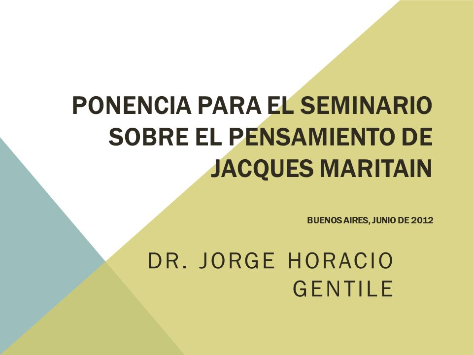 Dr. Jorge Horacio Gentile