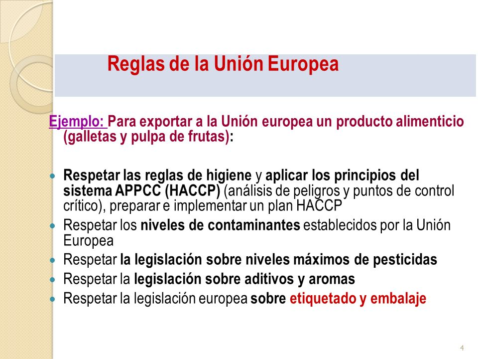 Reglas de la Unión Europea
