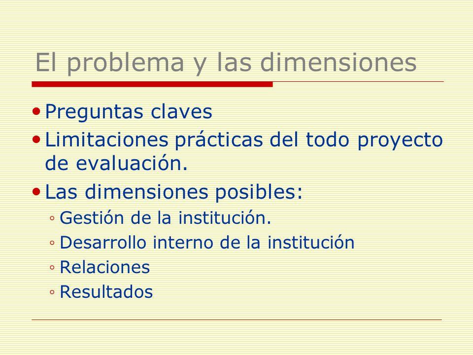 El problema y las dimensiones
