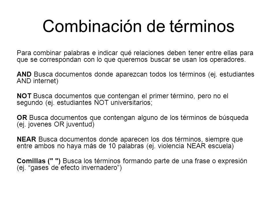 Combinación de términos