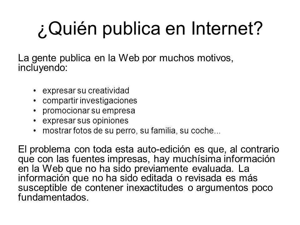 ¿Quién publica en Internet