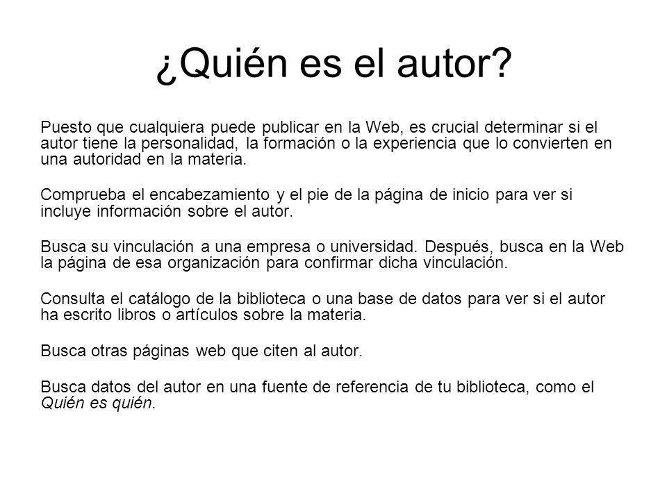 ¿Quién es el autor