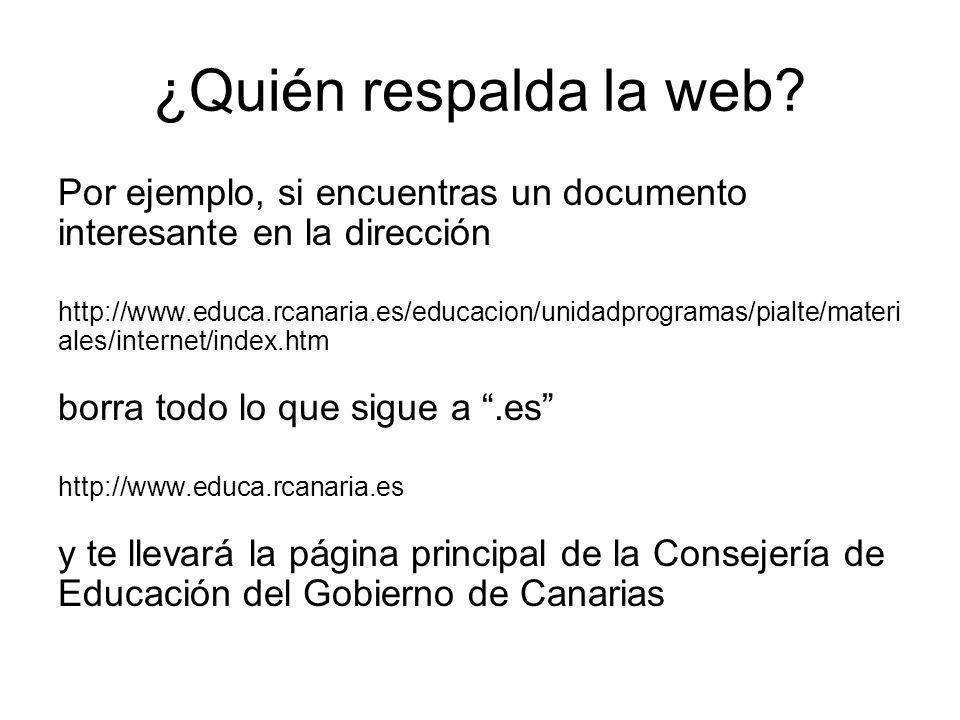 ¿Quién respalda la web Por ejemplo, si encuentras un documento interesante en la dirección.