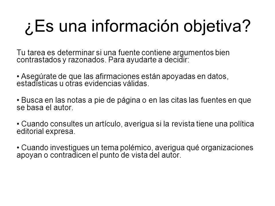 ¿Es una información objetiva