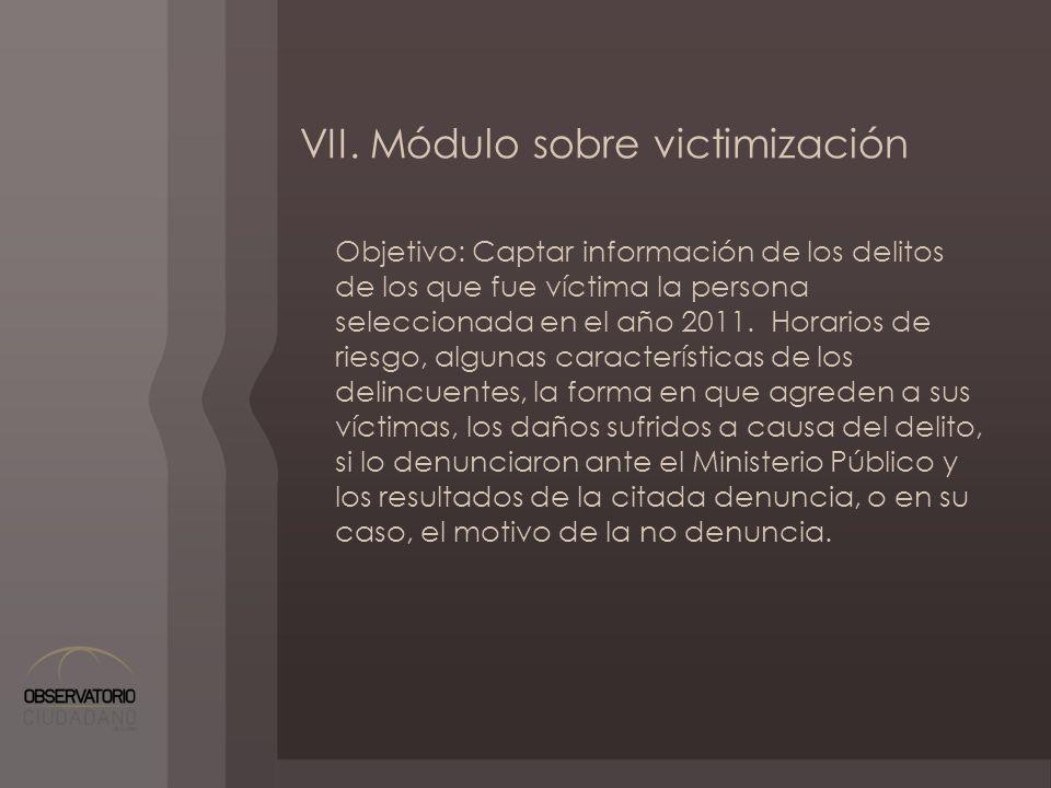 VII. Módulo sobre victimización