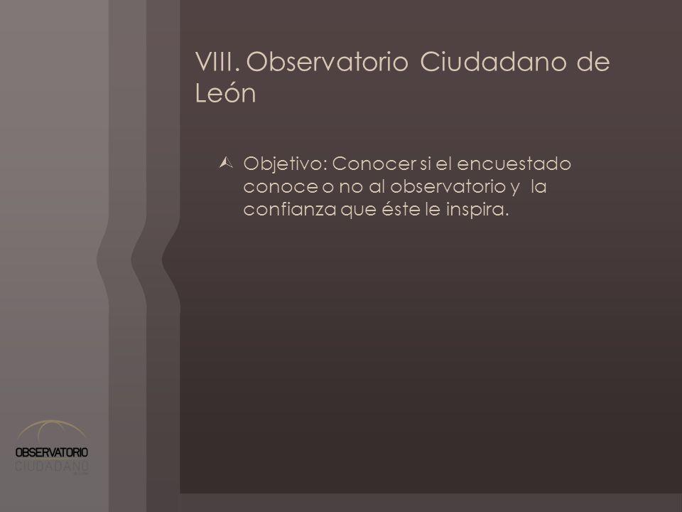 VIII. Observatorio Ciudadano de León