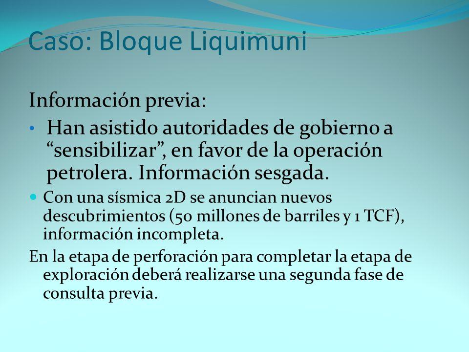 Caso: Bloque Liquimuni