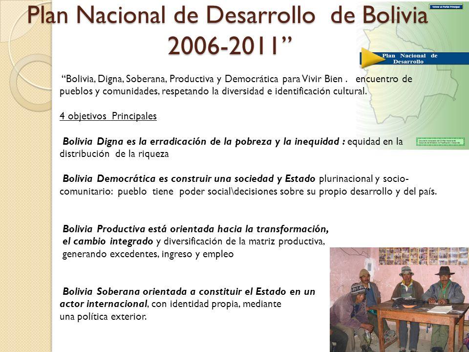 Plan Nacional de Desarrollo de Bolivia 2006-2011