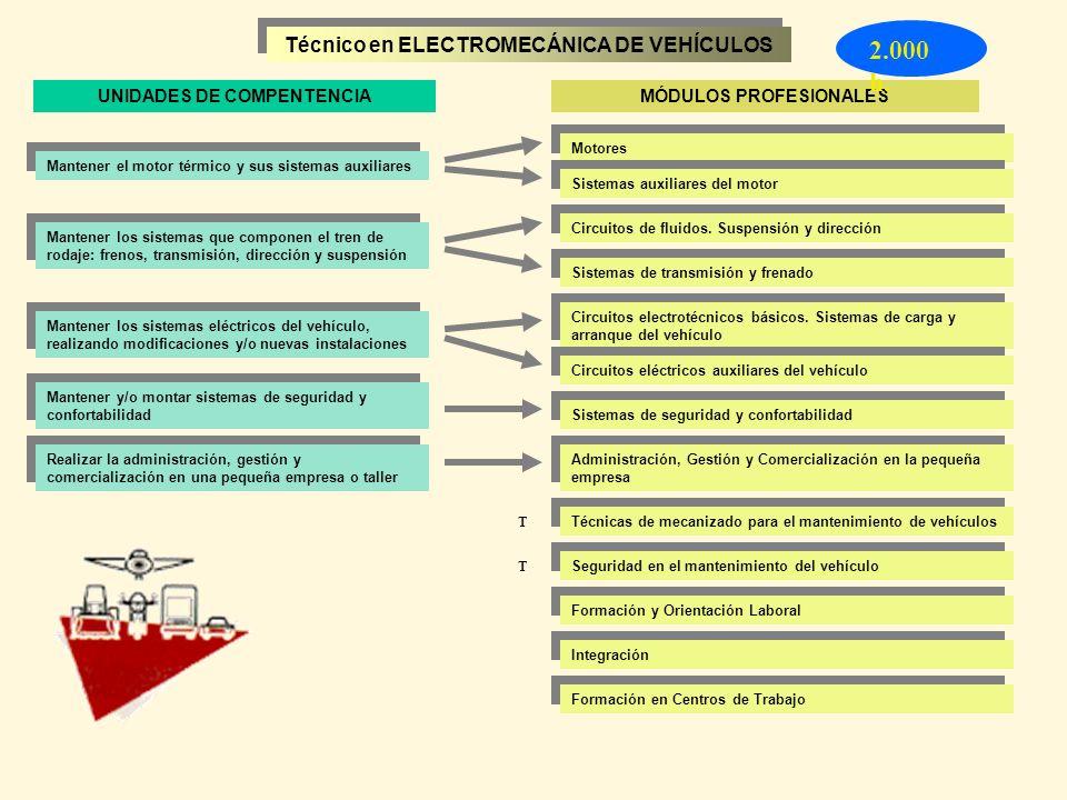 2.000 h. Técnico en ELECTROMECÁNICA DE VEHÍCULOS