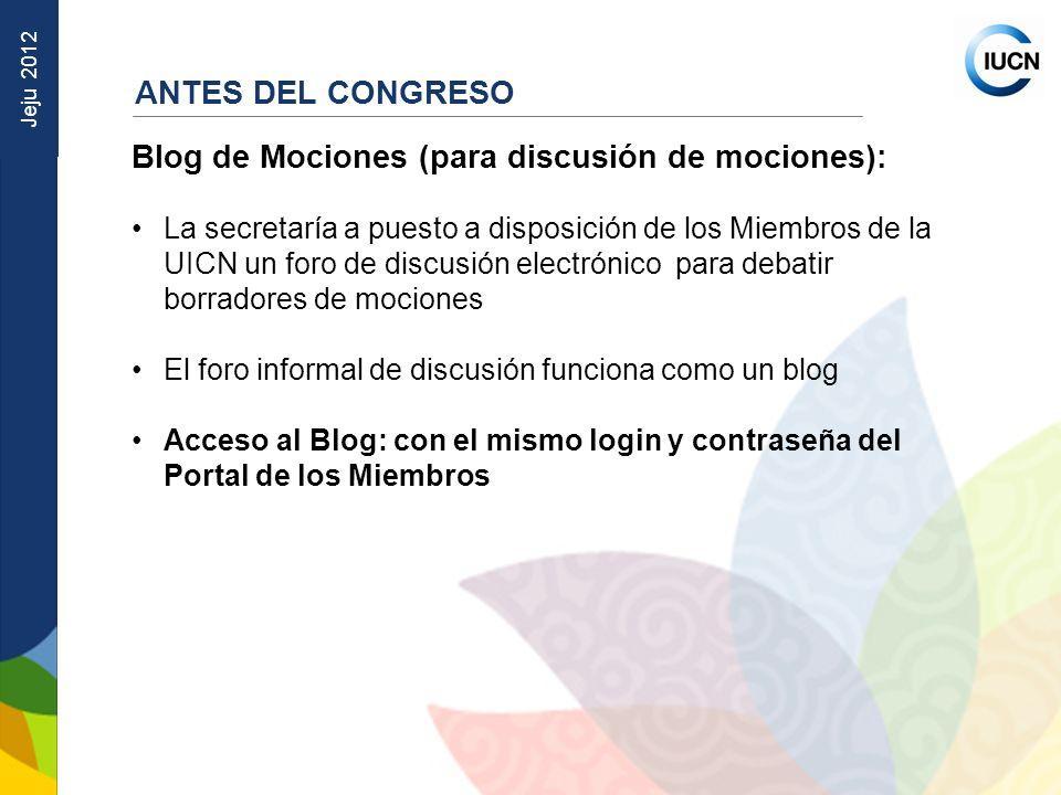 Blog de Mociones (para discusión de mociones):
