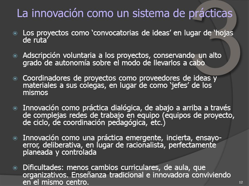 La innovación como un sistema de prácticas