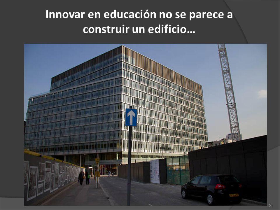 Innovar en educación no se parece a construir un edificio…