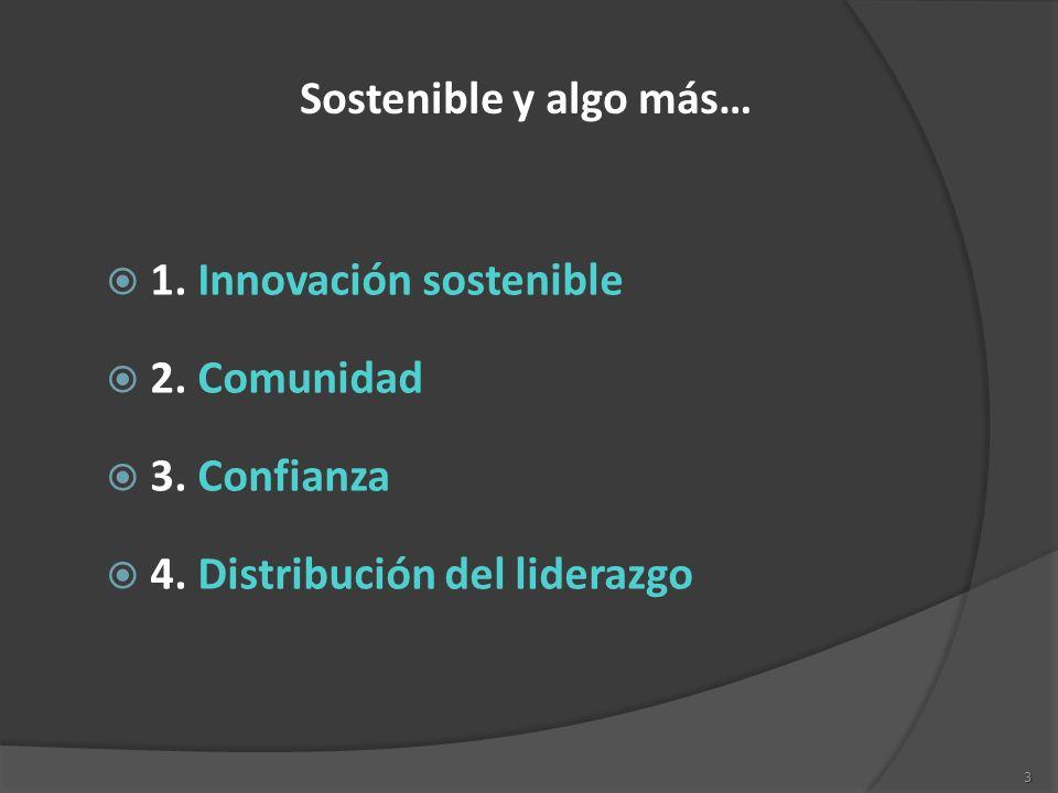 Sostenible y algo más… 1. Innovación sostenible. 2.
