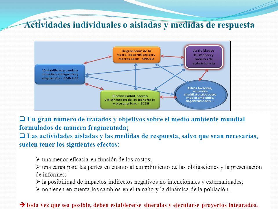 Actividades individuales o aisladas y medidas de respuesta