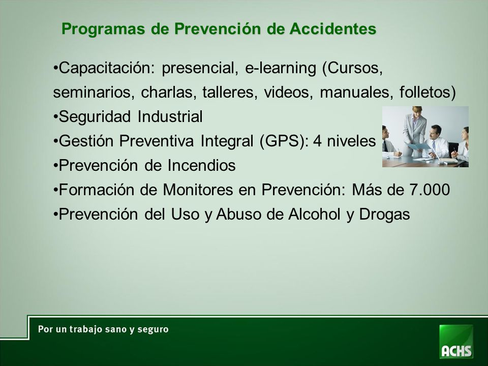 Programas de Prevención de Accidentes
