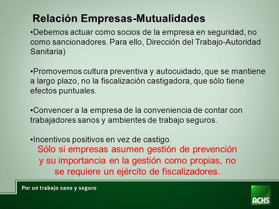 Relación Empresas-Mutualidades