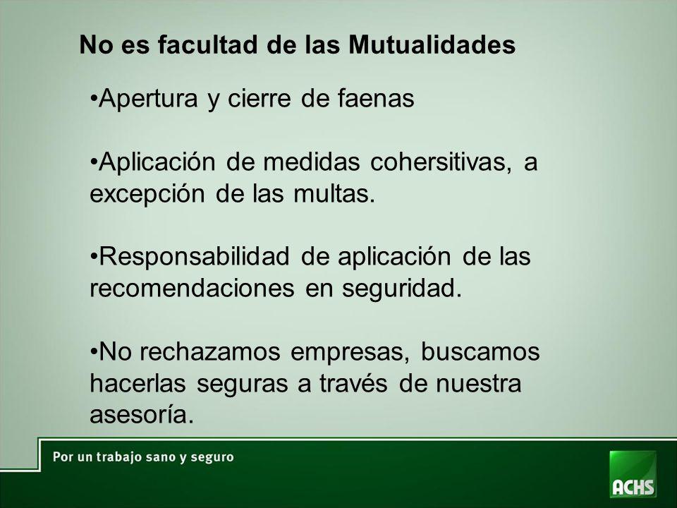 No es facultad de las Mutualidades
