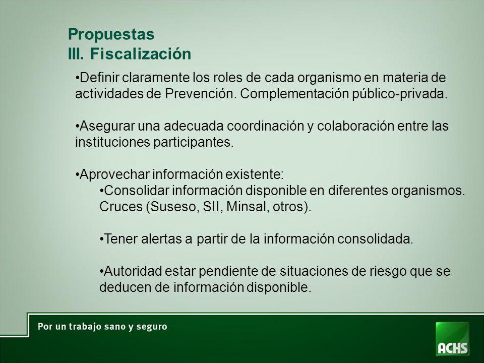Propuestas III. Fiscalización