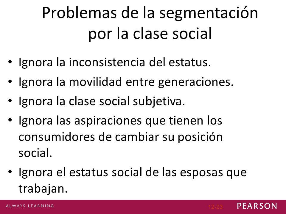 Problemas de la segmentación por la clase social