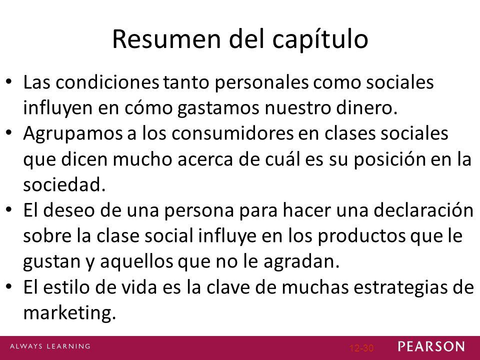 Resumen del capítulo Las condiciones tanto personales como sociales influyen en cómo gastamos nuestro dinero.