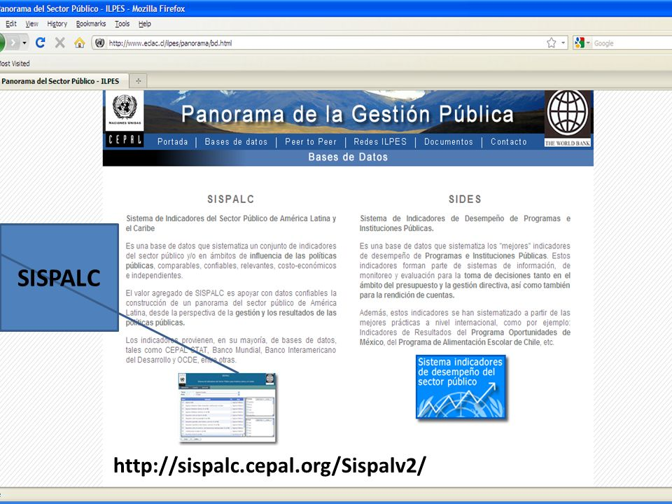 SISPALC http://sispalc.cepal.org/Sispalv2/