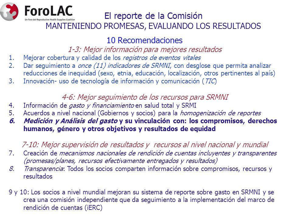 El reporte de la Comisión MANTENIENDO PROMESAS, EVALUANDO LOS RESULTADOS