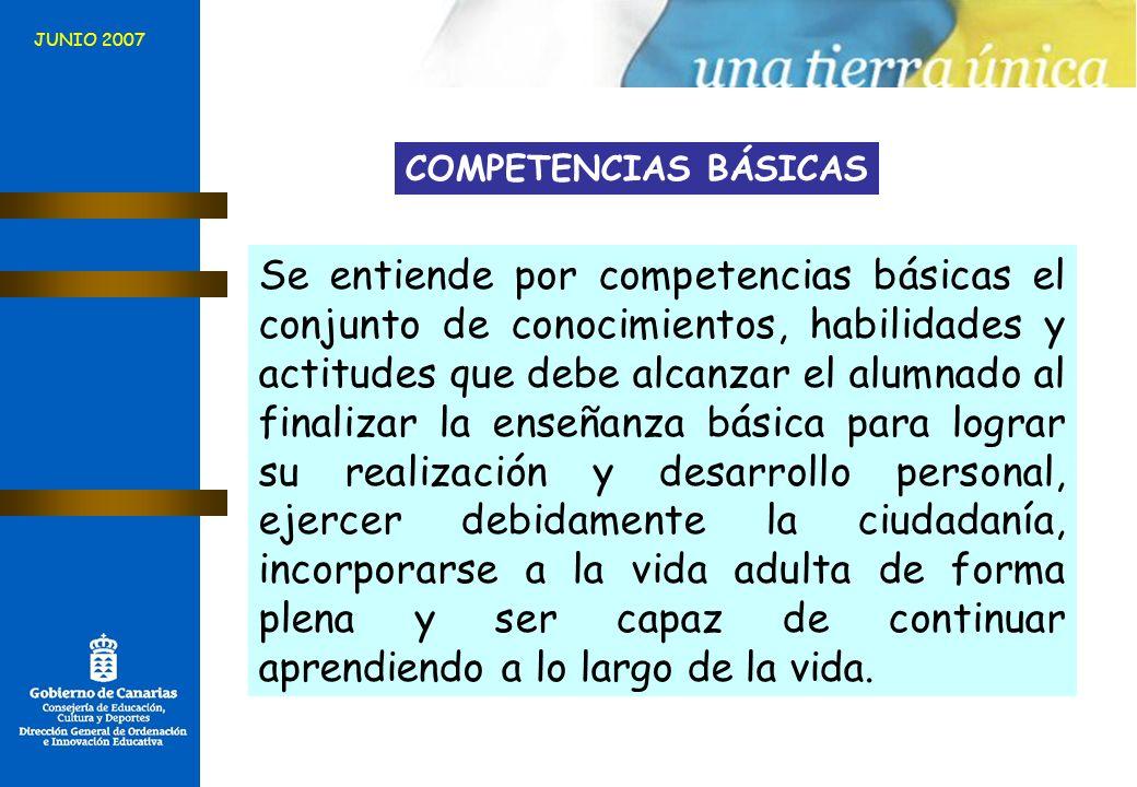JUNIO 2007 COMPETENCIAS BÁSICAS.