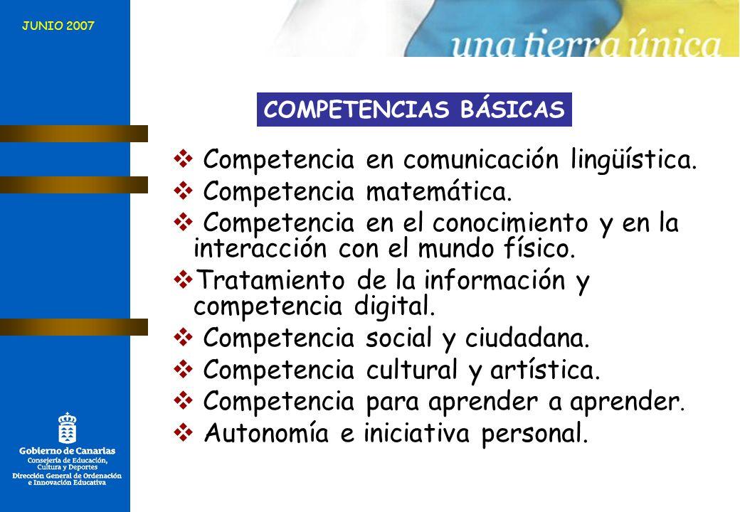 Competencia en comunicación lingüística. Competencia matemática.