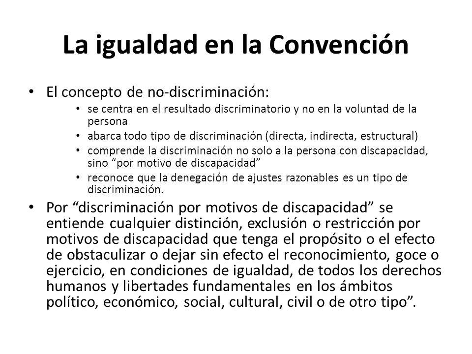 La igualdad en la Convención
