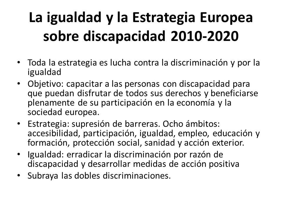 La igualdad y la Estrategia Europea sobre discapacidad 2010-2020