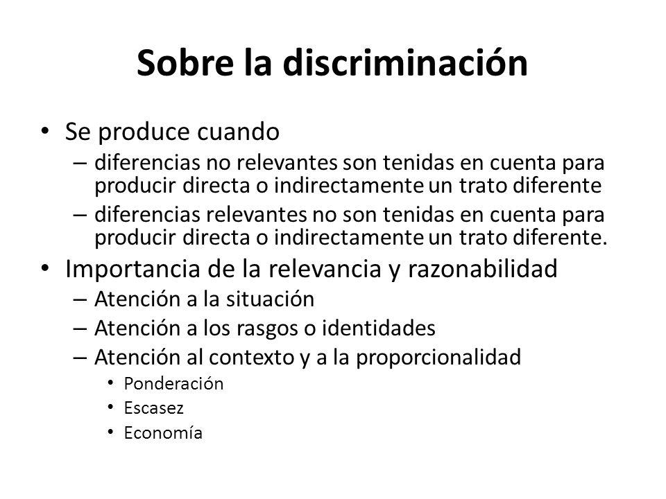 Sobre la discriminación