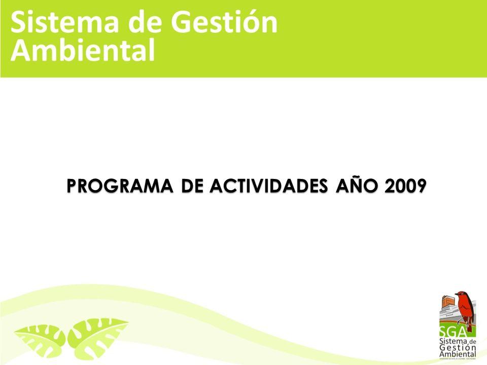 PROGRAMA DE ACTIVIDADES AÑO 2009