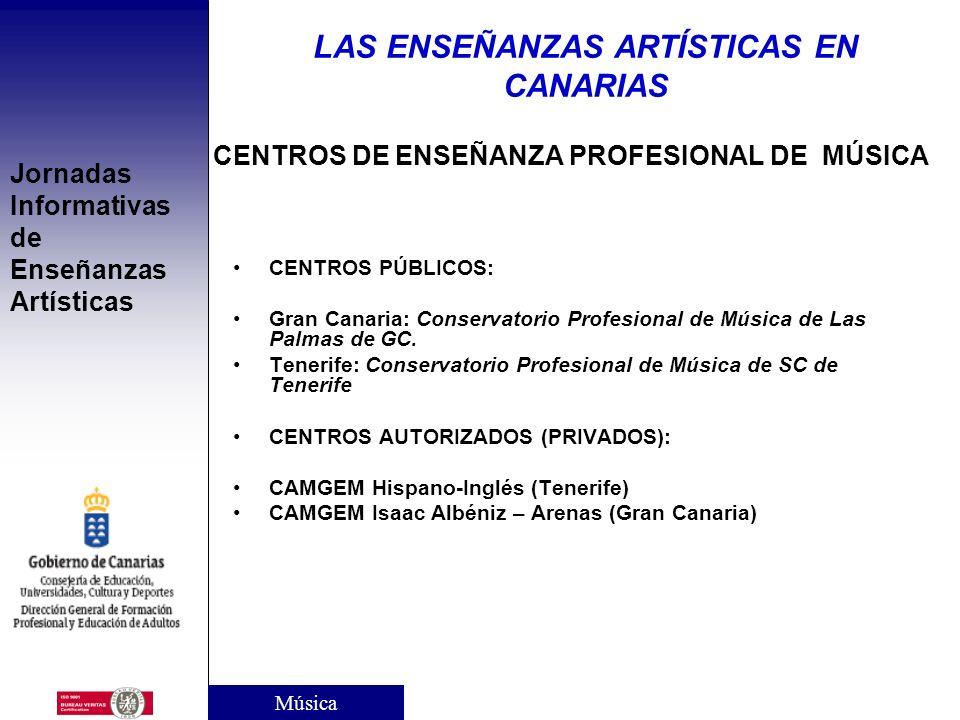 CENTROS DE ENSEÑANZA PROFESIONAL DE MÚSICA
