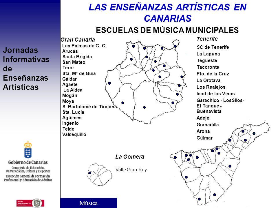 LAS ENSEÑANZAS ARTÍSTICAS EN CANARIAS ESCUELAS DE MÚSICA MUNICIPALES