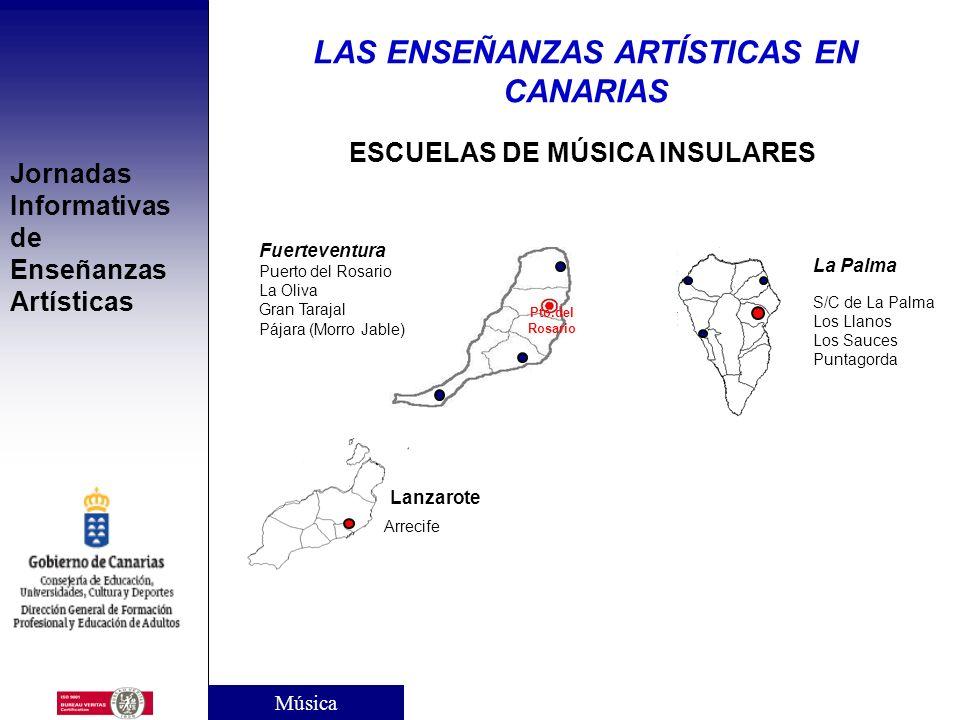 LAS ENSEÑANZAS ARTÍSTICAS EN CANARIAS ESCUELAS DE MÚSICA INSULARES