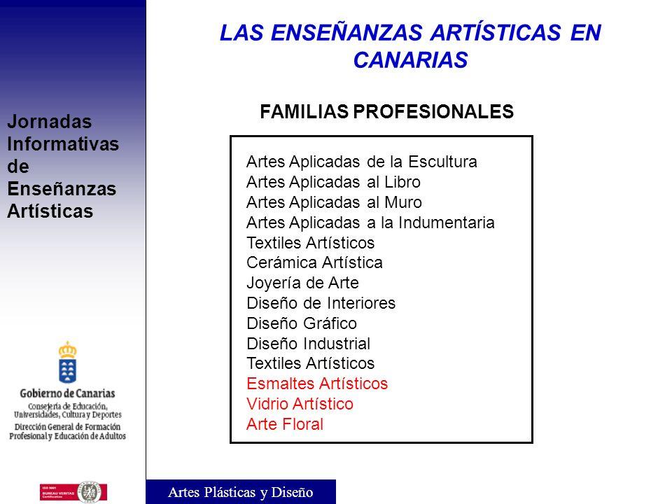 LAS ENSEÑANZAS ARTÍSTICAS EN CANARIAS FAMILIAS PROFESIONALES
