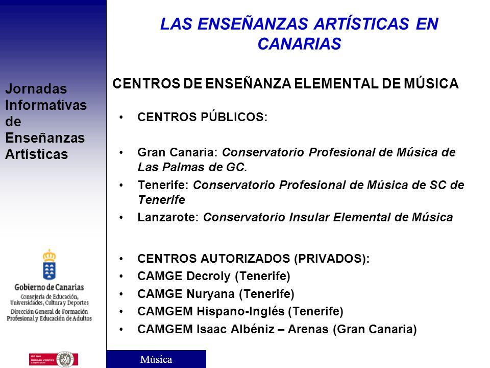 CENTROS DE ENSEÑANZA ELEMENTAL DE MÚSICA